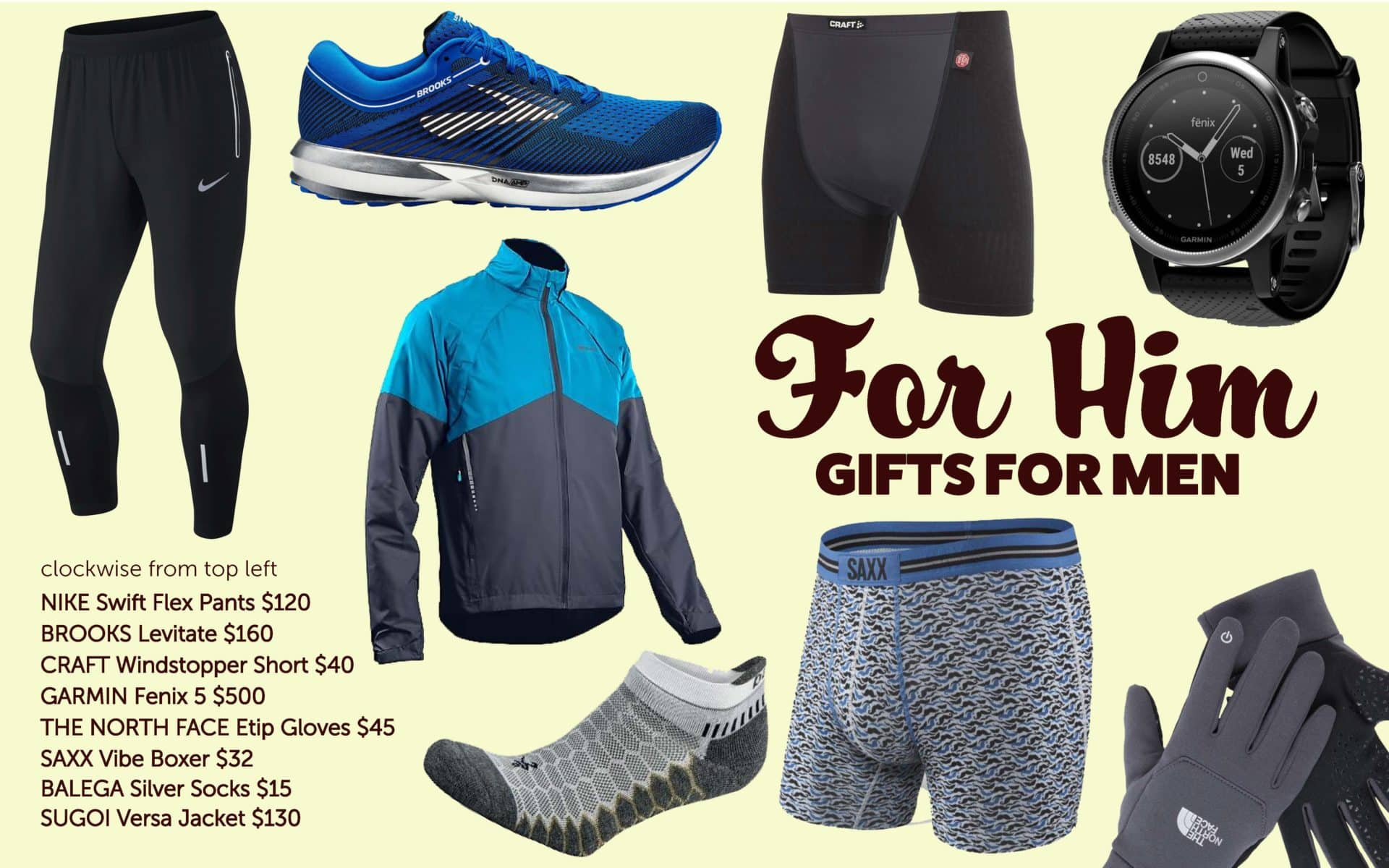 91d029dc83 It's easy to shop for the runner guy in your life with these great options!