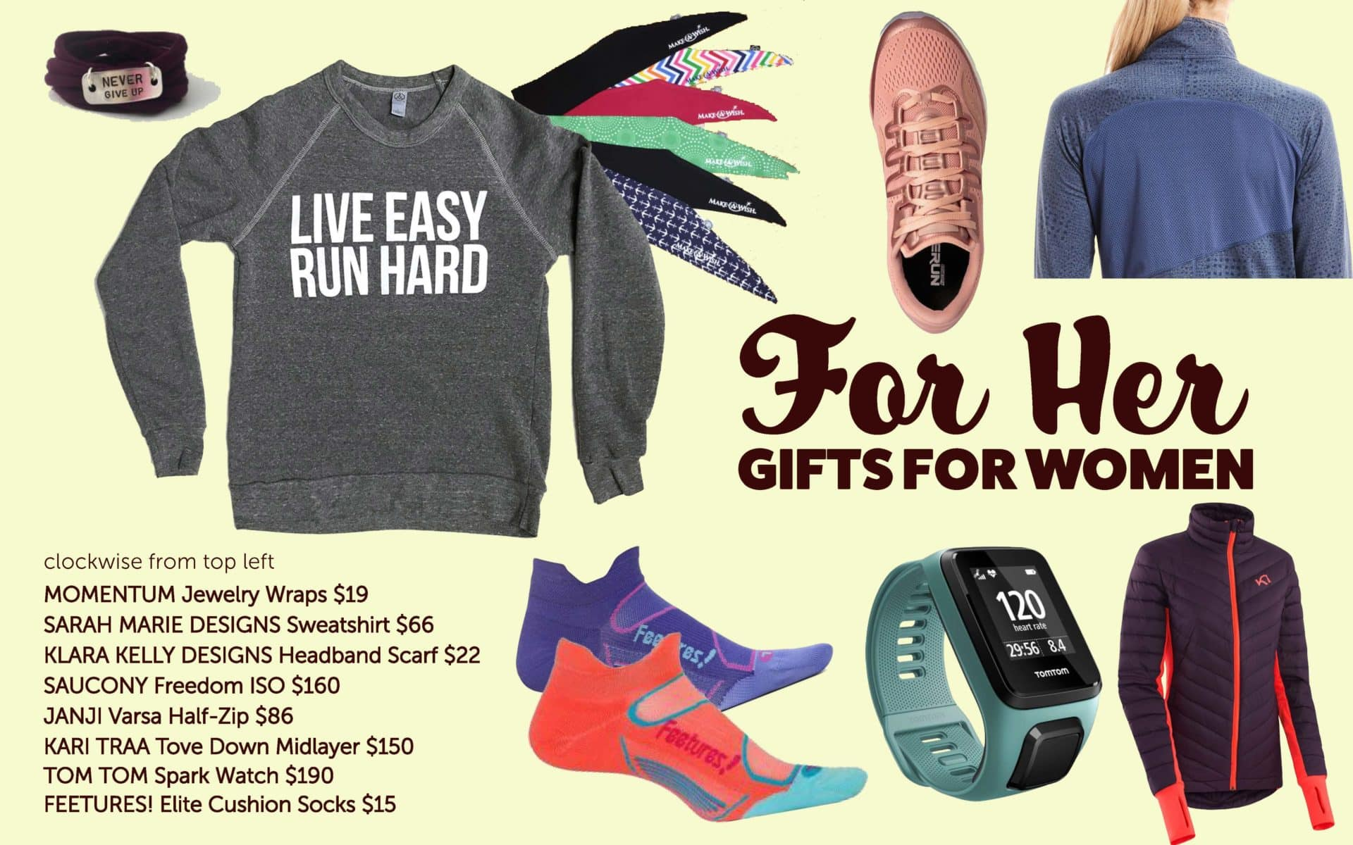8f59529fa4 Looking for the perfect gift for the runner or active gal in your life?  Here's a few of our favorite pieces of women's gear this season: